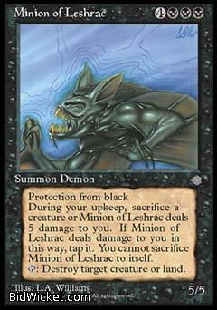 Minion of Leshrac, Ice Age, Magic the Gathering
