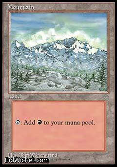 Mountain, Ice Age, Magic the Gathering