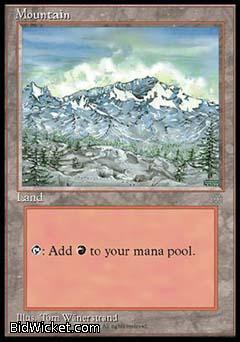 Mountain, Ice Age, Magic the Gathering