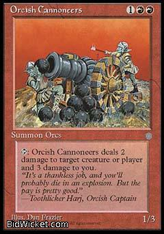 Orcish Cannoneers, Ice Age, Magic the Gathering