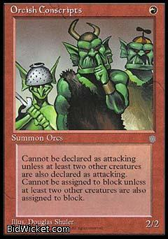 Orcish Conscripts, Ice Age, Magic the Gathering