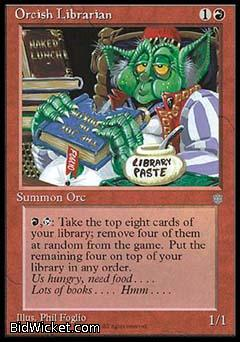 Orcish Librarian, Ice Age, Magic the Gathering