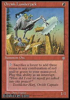 Orcish Lumberjack, Ice Age, Magic the Gathering