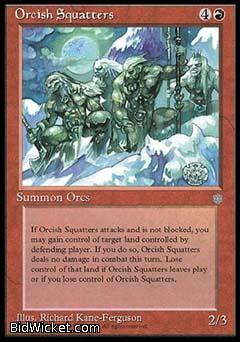 Orcish Squatters, Ice Age, Magic the Gathering