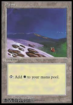 Plains B, Ice Age, Magic the Gathering