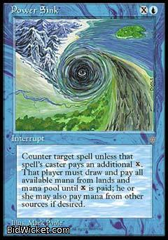 Power Sink, Ice Age, Magic the Gathering