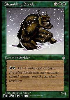 Shambling Strider, Ice Age, Magic the Gathering