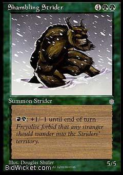 Shambling Strider, Ice Age, Magic the Gathering