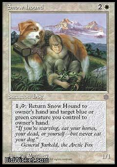 Snow Hound, Ice Age, Magic the Gathering