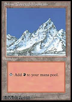 Snow-Covered Mountain, Ice Age, Magic the Gathering