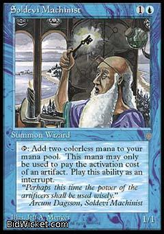 Soldevi Machinist, Ice Age, Magic the Gathering