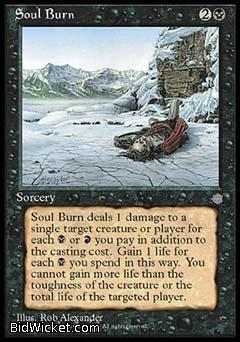 Soul Burn, Ice Age, Magic the Gathering