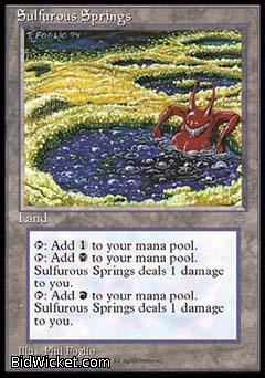 Sulfurous Springs, Ice Age, Magic the Gathering