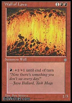 Wall of Lava, Ice Age, Magic the Gathering