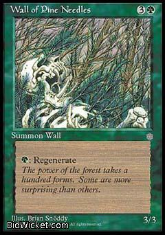 Wall of Pine Needles, Ice Age, Magic the Gathering