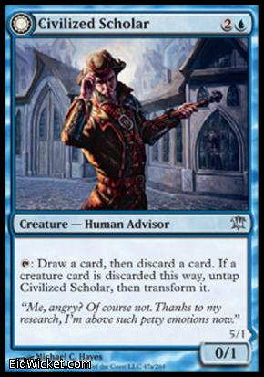 Civilized Scholar (Homicidal Brute), Innistrad, Magic the Gathering