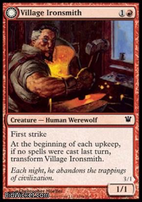 Village Ironsmith (Ironfang), Innistrad, Magic the Gathering