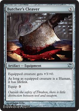Butcher's Cleaver  , Innistrad, Magic the Gathering