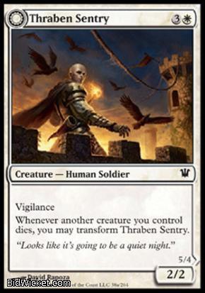 Thraben Sentry (Thraben Militia), Innistrad, Magic the Gathering