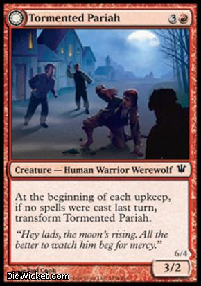 Tormented Pariah (Rampaging Werewolf), Innistrad, Magic the Gathering