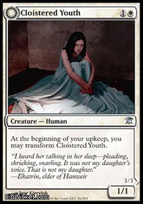 Cloistered Youth (Unholy Fiend), Innistrad, Magic the Gathering