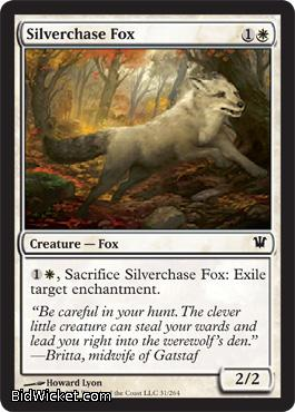 Silverchase Fox, Innistrad, Magic the Gathering