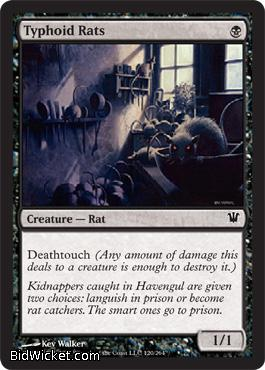 Typhoid Rats, Innistrad, Magic the Gathering
