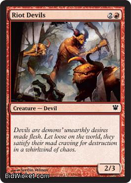 Riot Devils, Innistrad, Magic the Gathering