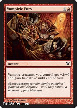 Vampiric Fury, Innistrad, Magic the Gathering
