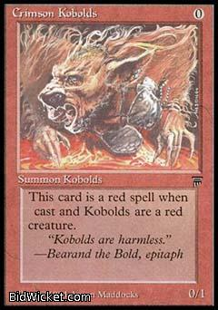 Crimson Kobolds, Legends, Magic the Gathering