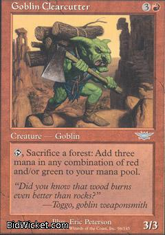 Goblin Clearcutter, Legions, Magic the Gathering