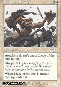 Liege of the Axe, Legions, Magic the Gathering