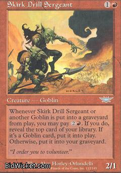 Skirk Drill Sergeant, Legions, Magic the Gathering