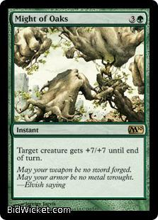 Might of Oaks, Magic 2010 Core Set, Magic the Gathering