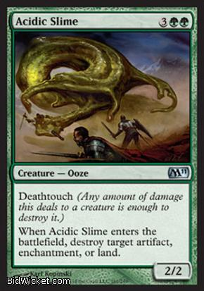 Acidic Slime, Magic 2011 Core Set, Magic the Gathering