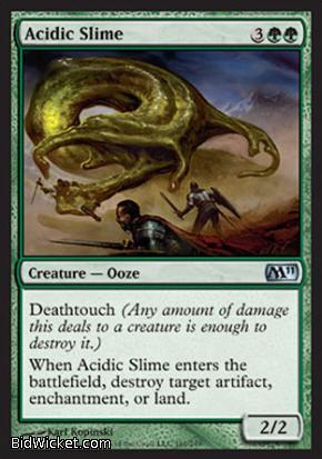 Acidic Slime, Magic 2011 Core Set, Magic the Gathering