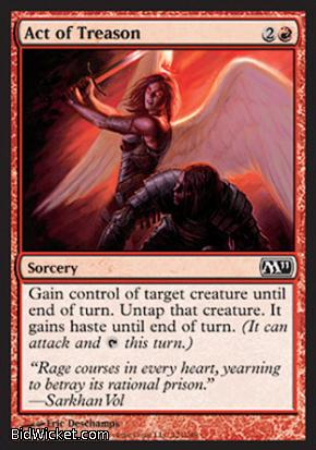Act of Treason, Magic 2011 Core Set, Magic the Gathering