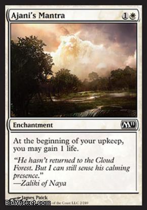 Ajani's Mantra, Magic 2011 Core Set, Magic the Gathering