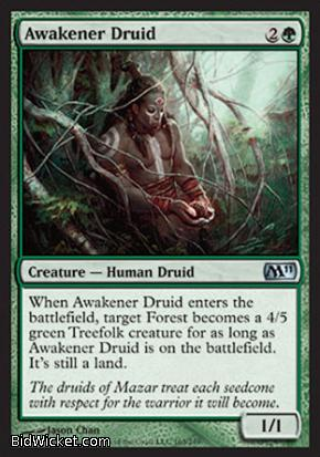 Awakener Druid, Magic 2011 Core Set, Magic the Gathering