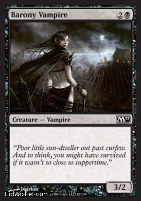 Barony Vampire, Magic 2011 Core Set, Magic the Gathering
