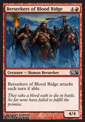 Berserkers of Blood Ridge, Magic 2011 Core Set, Magic the Gathering