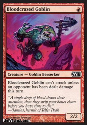 Bloodcrazed Goblin, Magic 2011 Core Set, Magic the Gathering