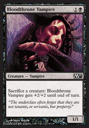 Bloodthrone Vampire, Magic 2011 Core Set, Magic the Gathering