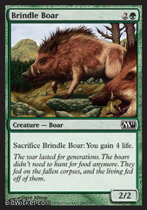 Brindle Boar, Magic 2011 Core Set, Magic the Gathering
