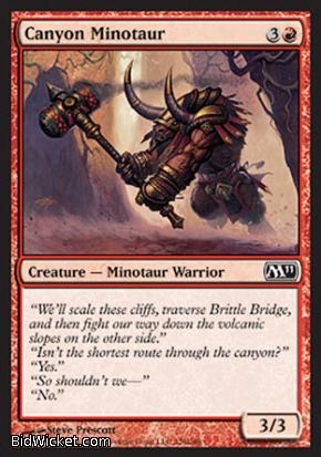 Canyon Minotaur, Magic 2011 Core Set, Magic the Gathering