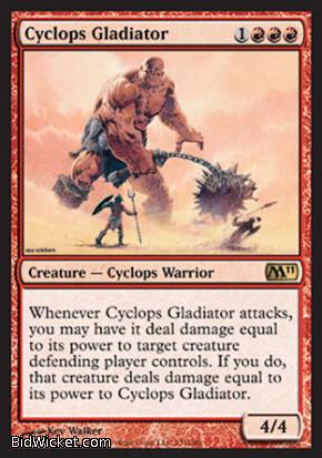 Cyclops Gladiator, Magic 2011 Core Set, Magic the Gathering