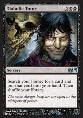 Diabolic Tutor, Magic 2011 Core Set, Magic the Gathering