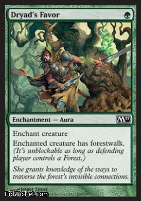 Dryad's Favor, Magic 2011 Core Set, Magic the Gathering