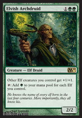 Elvish Archdruid, Magic 2011 Core Set, Magic the Gathering