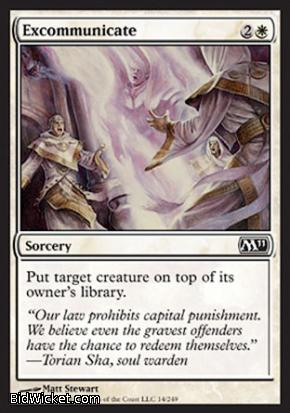 Excommunicate, Magic 2011 Core Set, Magic the Gathering